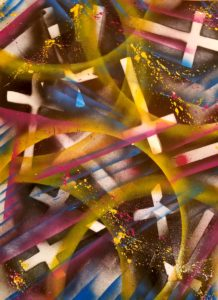 graphic art, christine's mod art. colorful, red, green, black, art, contemporary, abstract, urbanart, modern